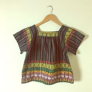 Tops - Vintage Multi-Colored Ethnic Embroidered Blouse